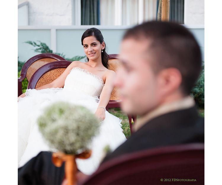 Amelia y José el día de su boda