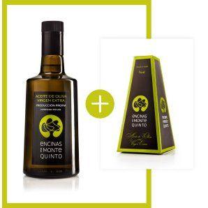 Botella de cristal de aceite de oliva virgen extra de 0,5 l.