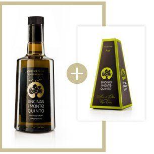 "Botella de aceite ""en rama"" con packaging"