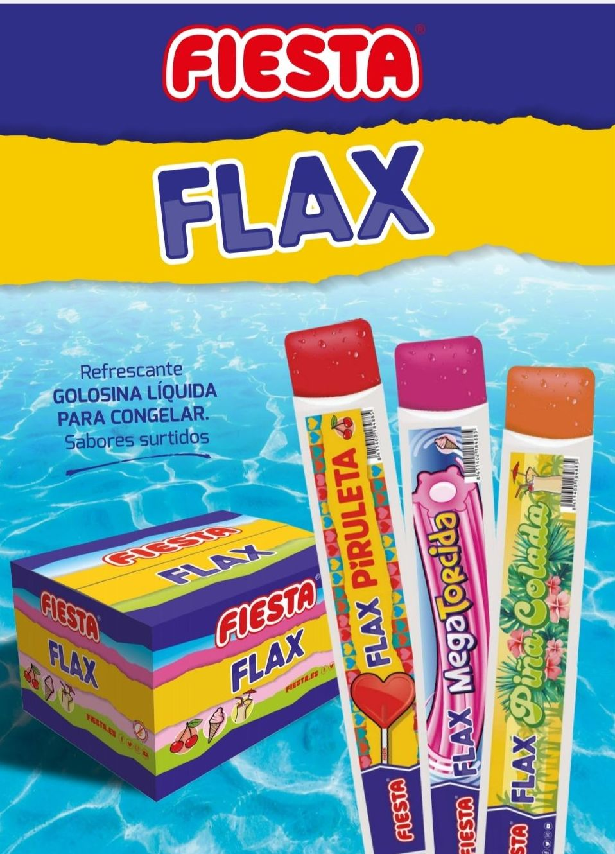 FLAX FIESTA SURTIDO  (PIÑA COLADA -CEREZA-SABOR HELADO)
