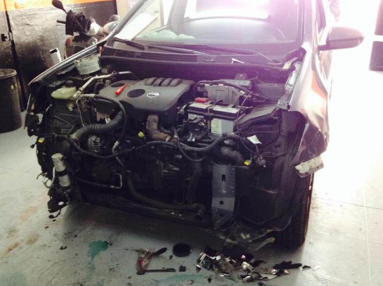 Reparación de Nissan Qashqai  - Accidente frontal