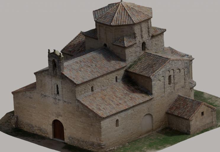 Modelo 3d Nuestra Señora de la Ascunsión - Urueña (Valladolid)