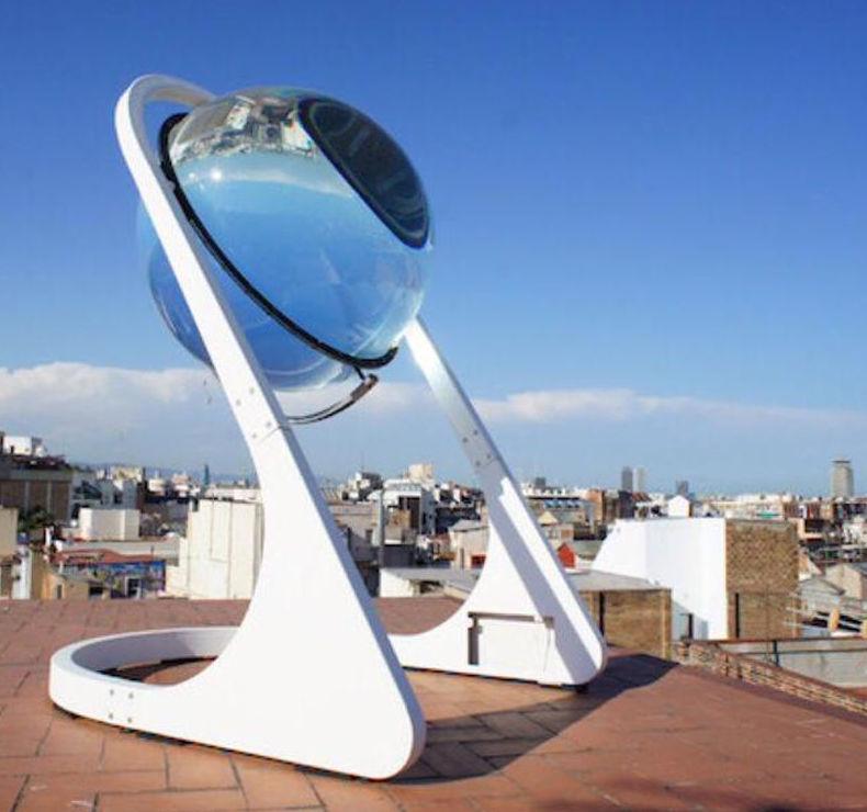 Esfera transparente como panel solar