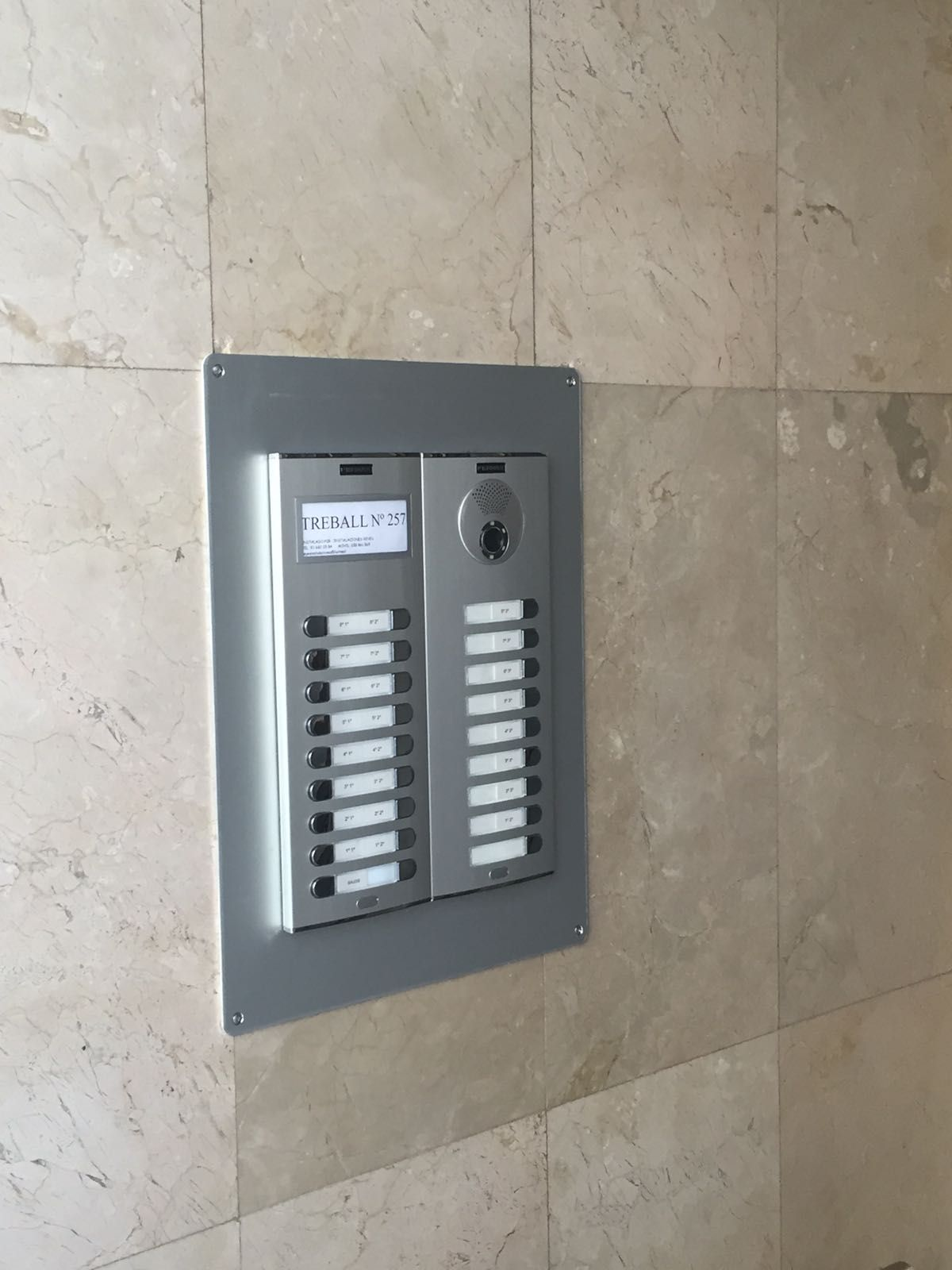 instalacion videoportero Sant Feliu de Llobregat