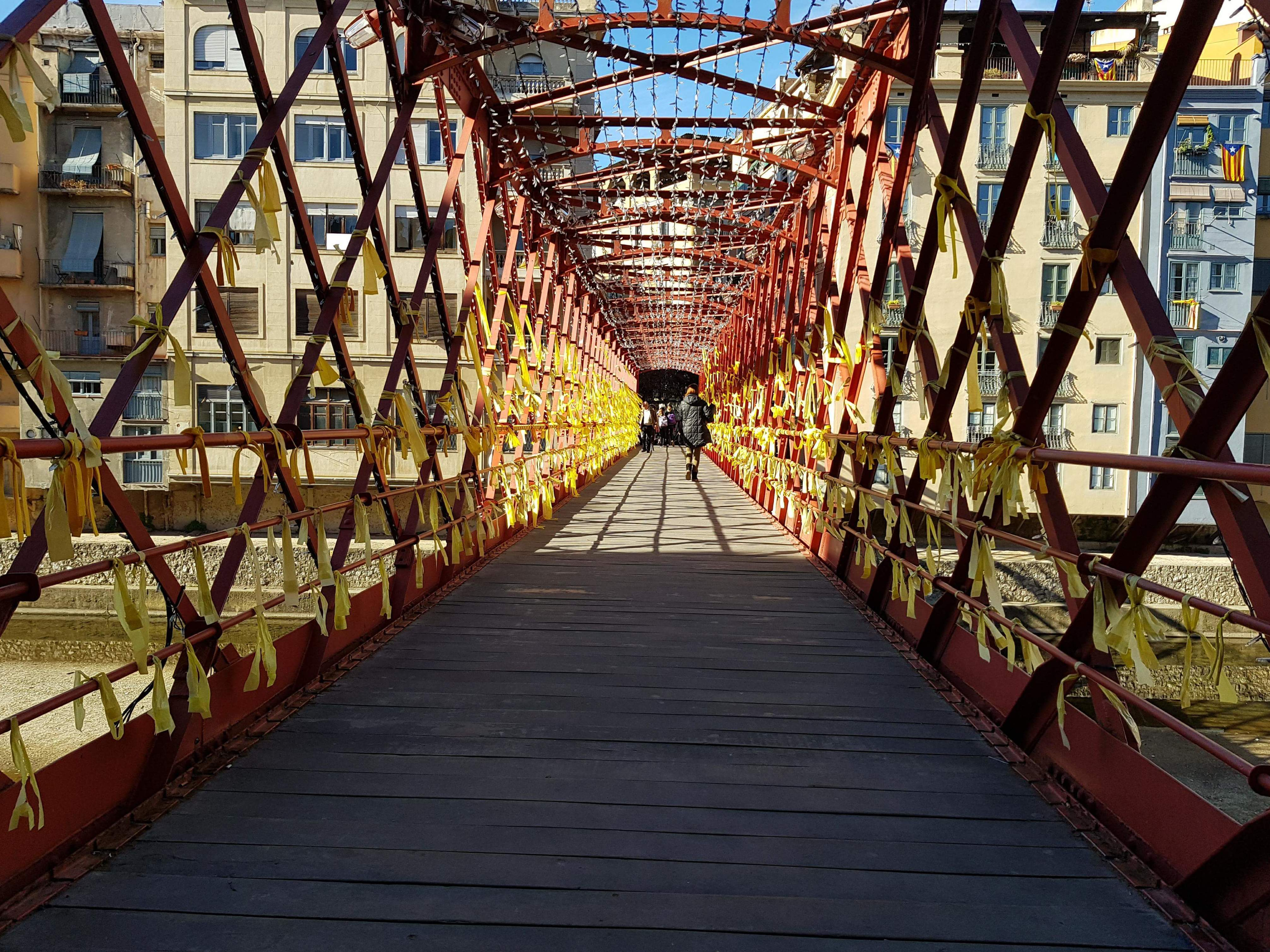 Puente hierro Girona