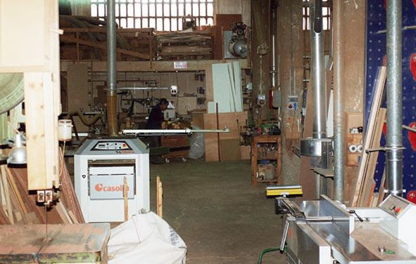 Interior de la carpintería en Sabadell, Barcelona