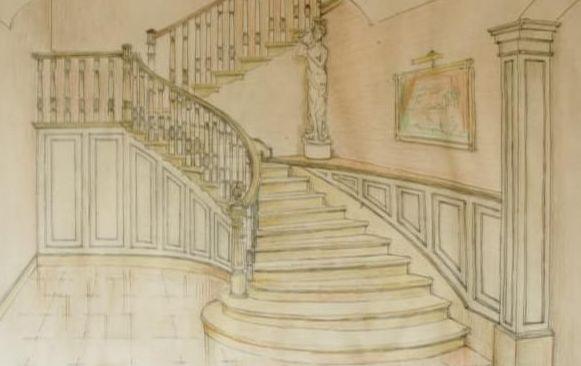 Boceto de escalera