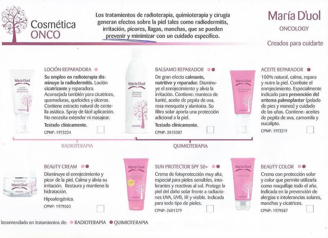Productos oncologicos
