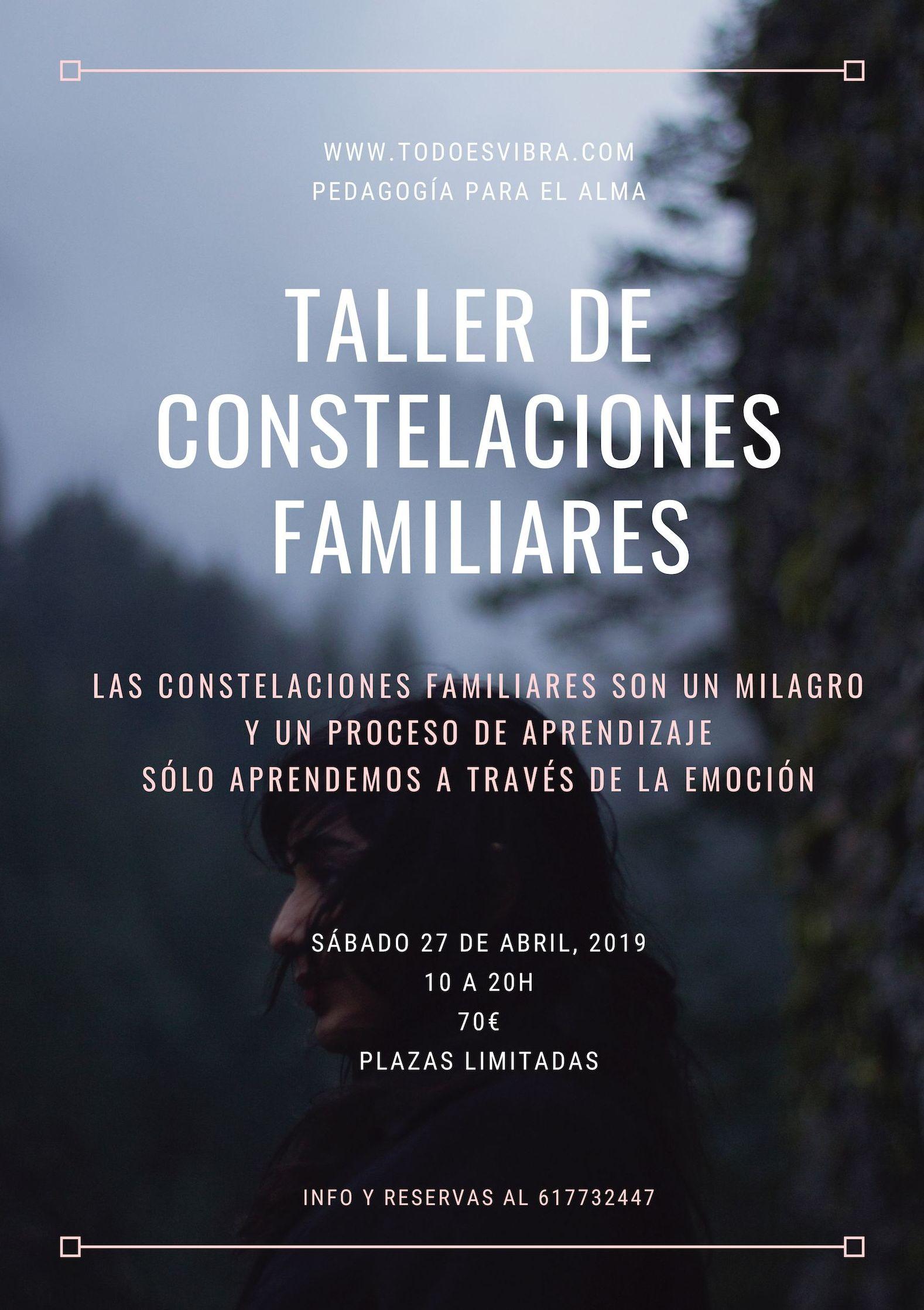 Taller de Constelaciones Familiares SÁBADO 27 DE ABRIL: Tratamientos y cursos de Todo Es Vibra