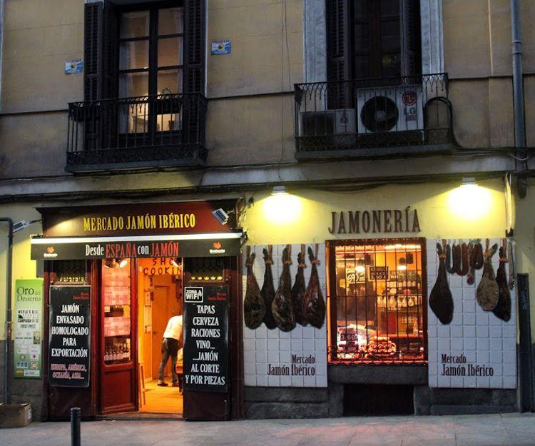 Jamonería en Madrid