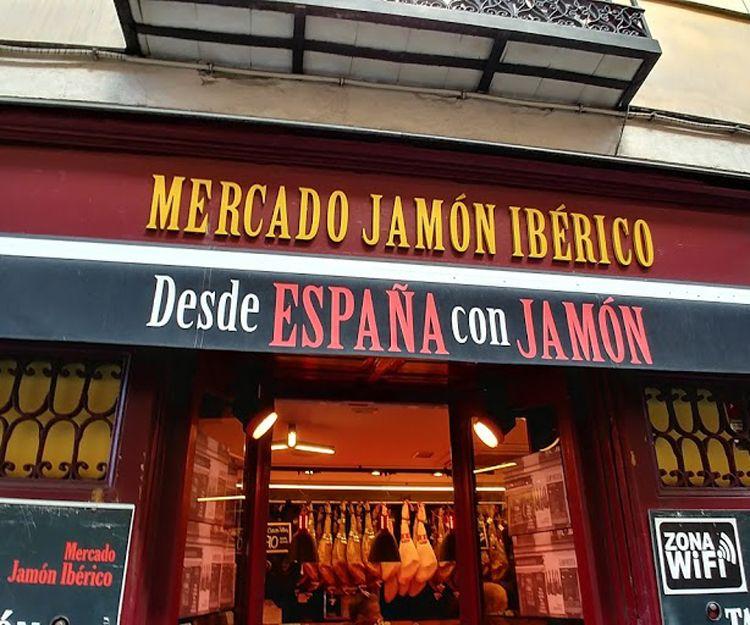 Mercado Jamón Ibérico en Madrid