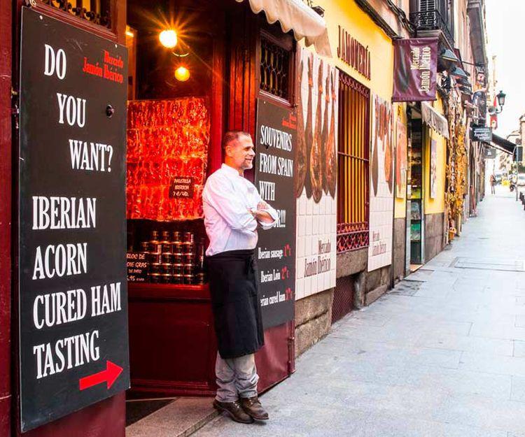 Degustación de jamón ibérico de bellota en Madrid