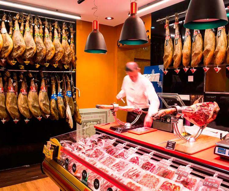 Venta de jamón ibérico en Madrid