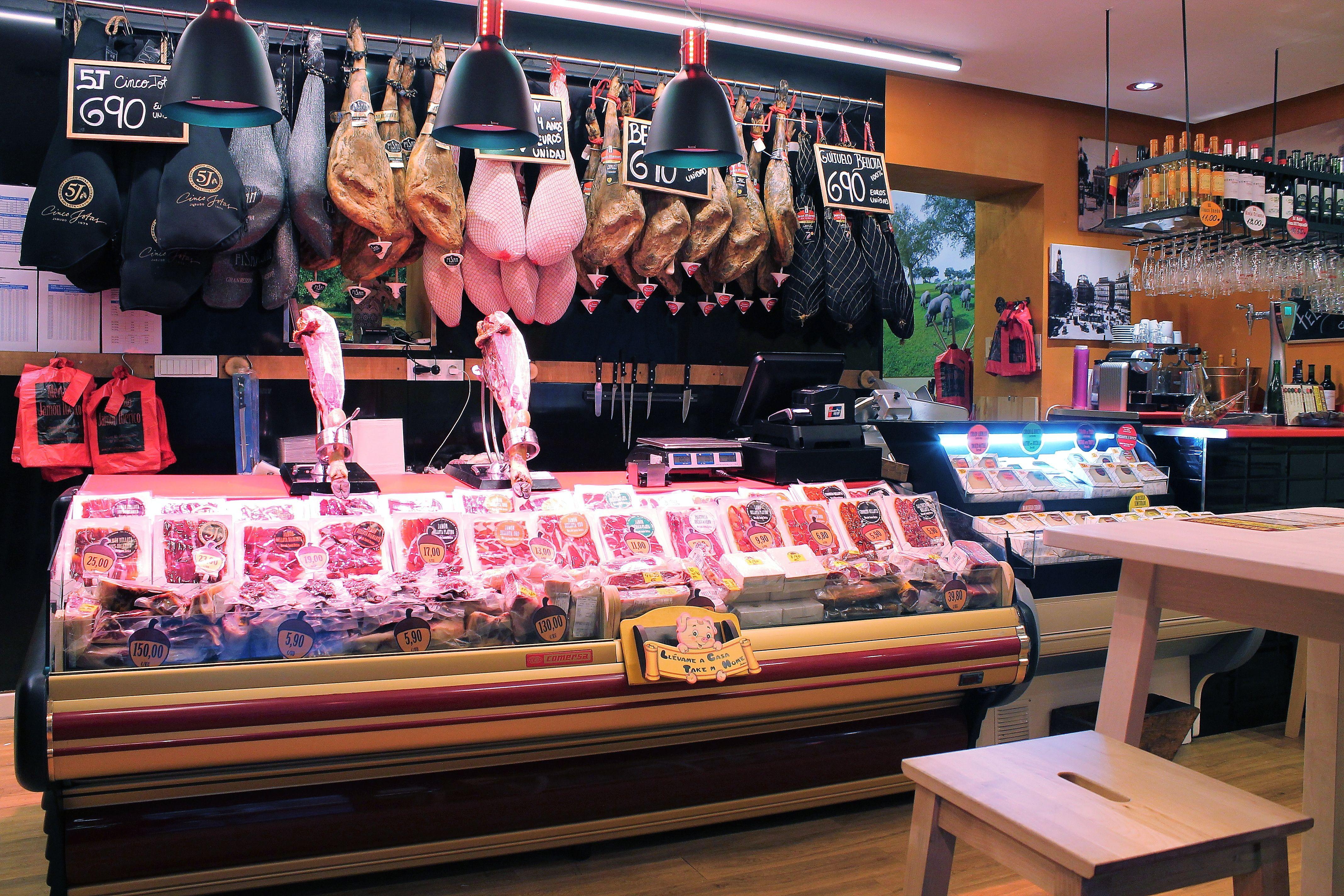 Comprar jamón en Madrid centro