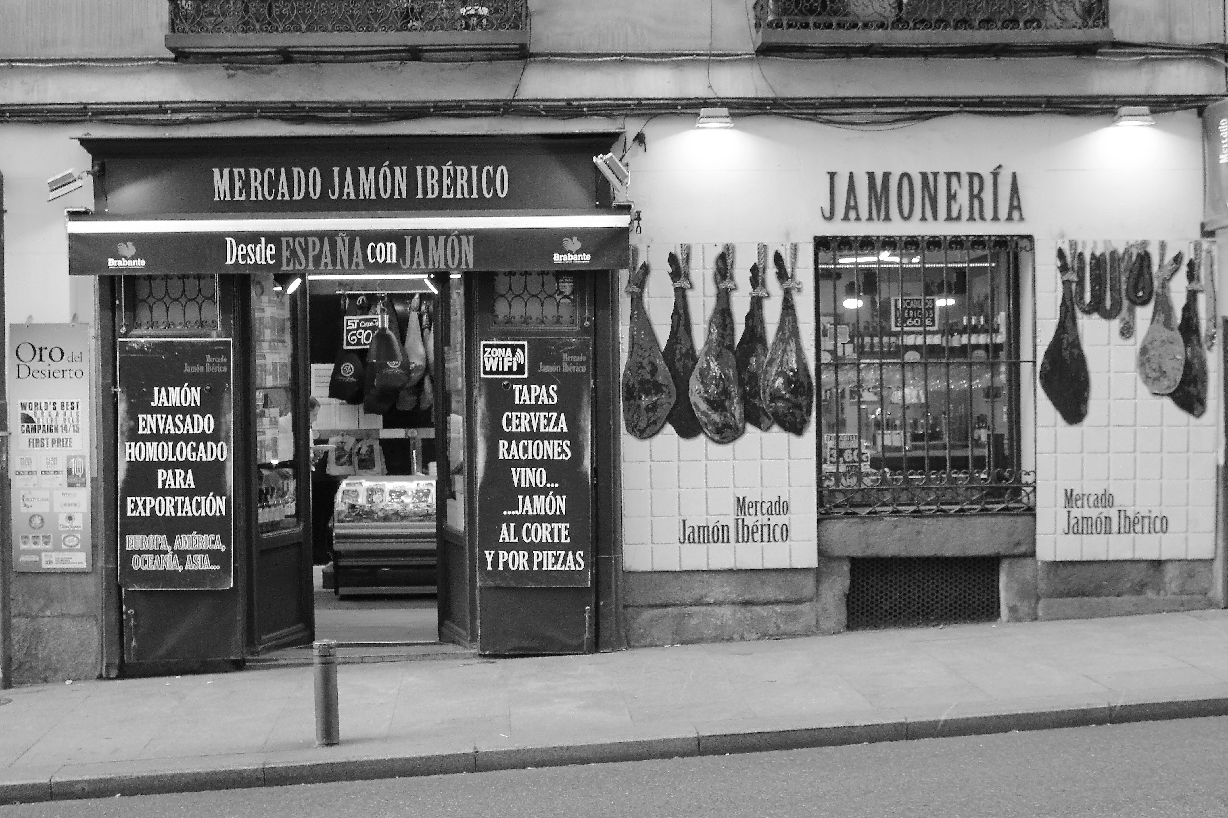 Mercado Jamón Ibérico en Madrid centro