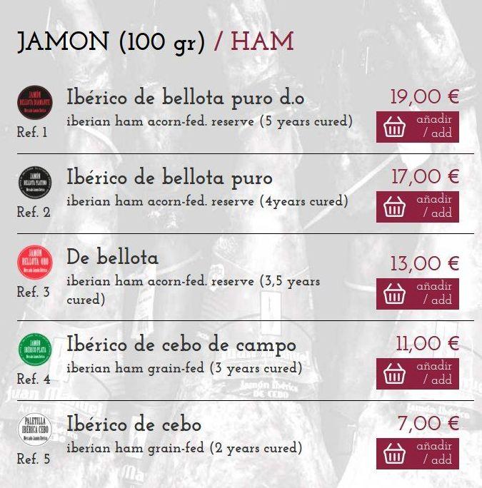 Tienda Online / Shop Online: Tienda online y experiencias de Mercado Jamón Ibérico