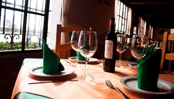 Detalla de mesa del restaurante