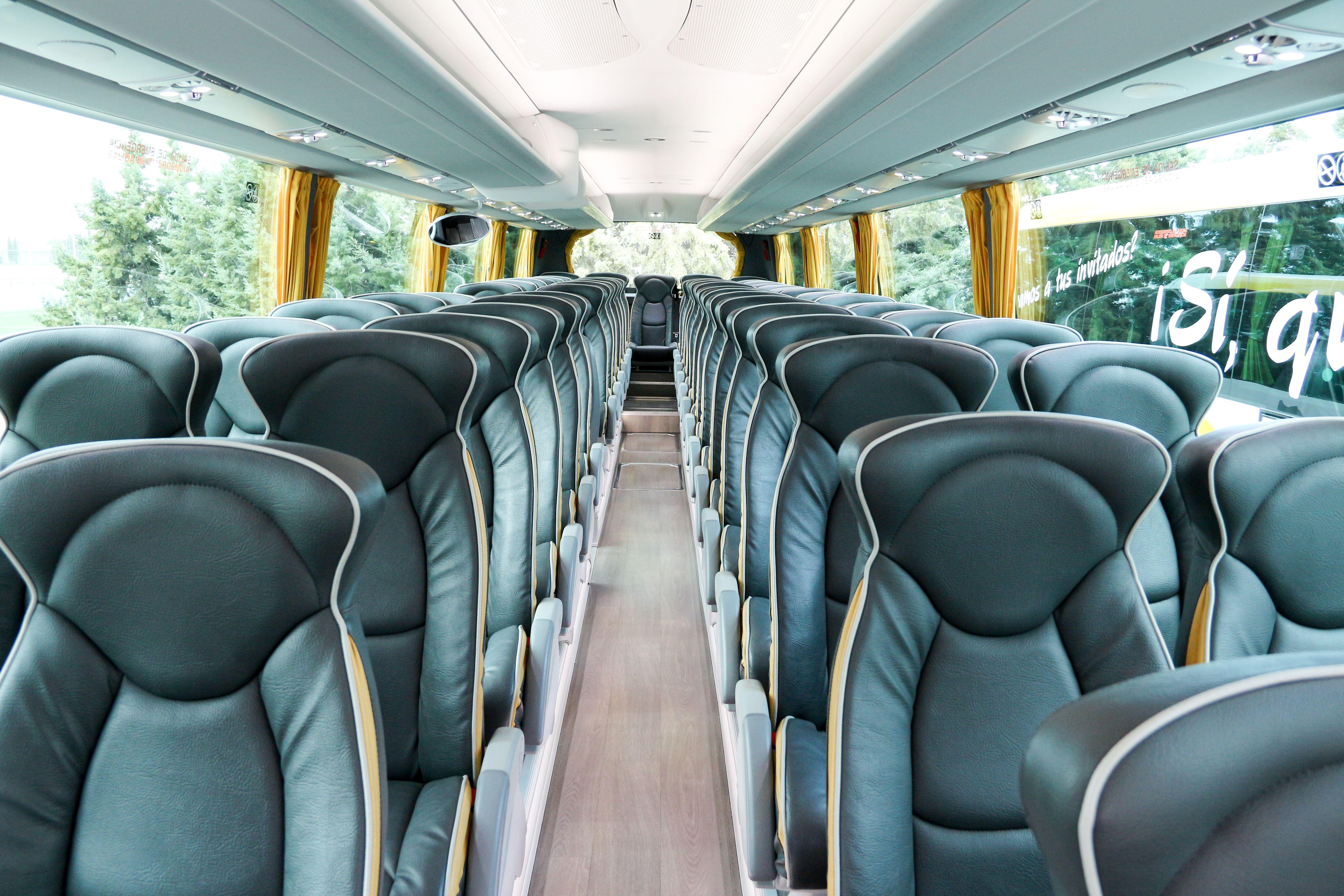 Interior bus de Autocares Redruejo