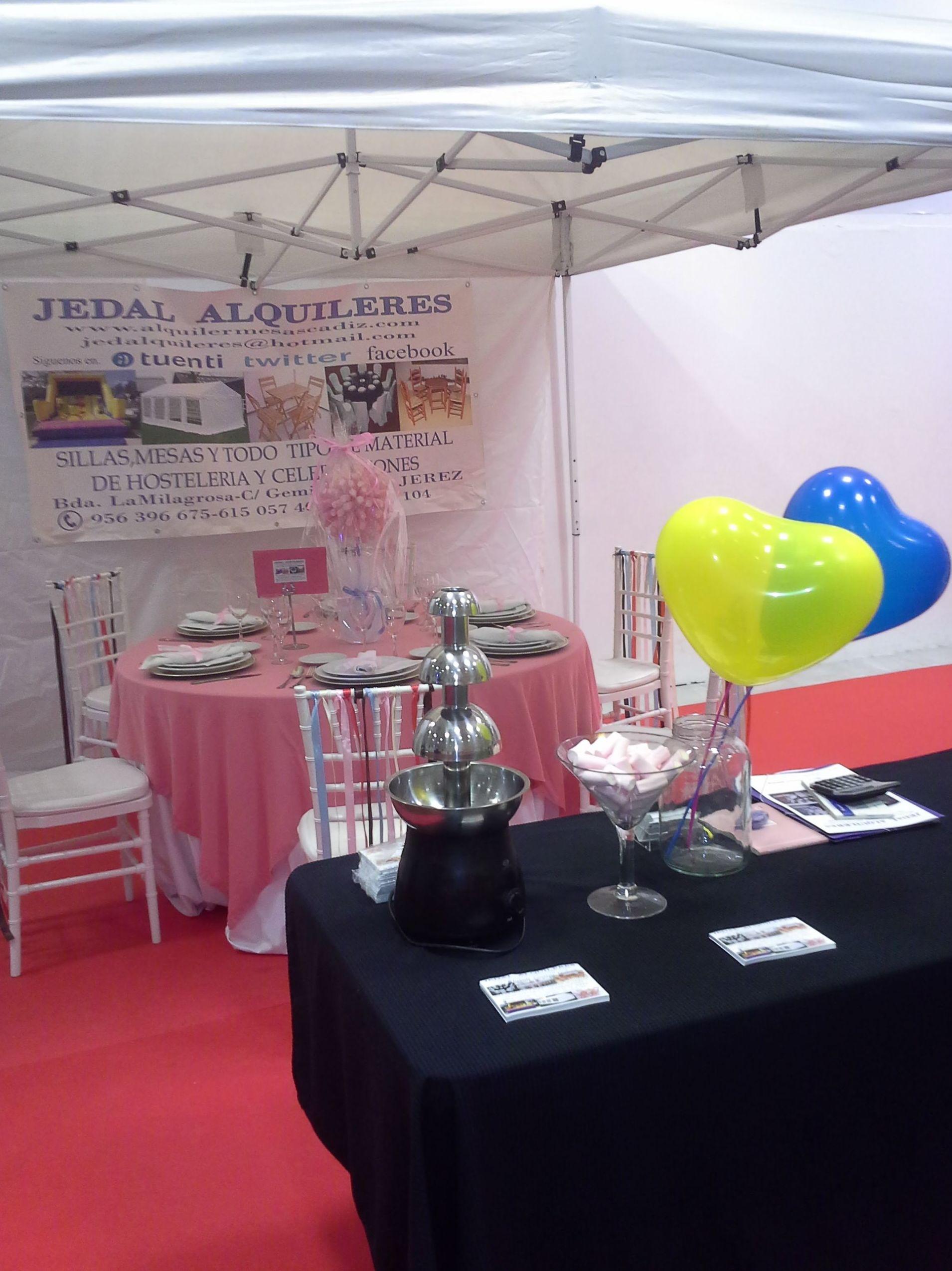 Foto 9 de Alquiler de sillas, mesas y menaje en Jerez de la Frontera | Jedal Alquileres