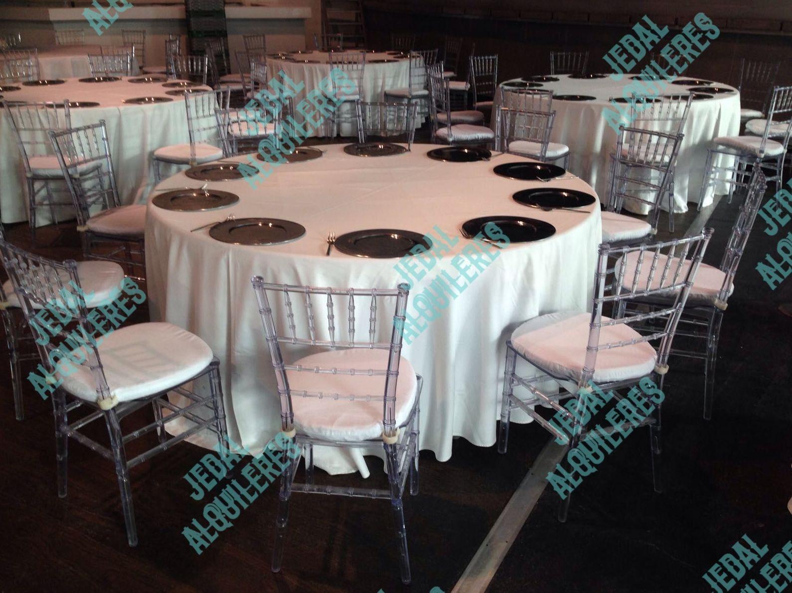Sillas y mesas para fiestas en Jerez de la Frontera