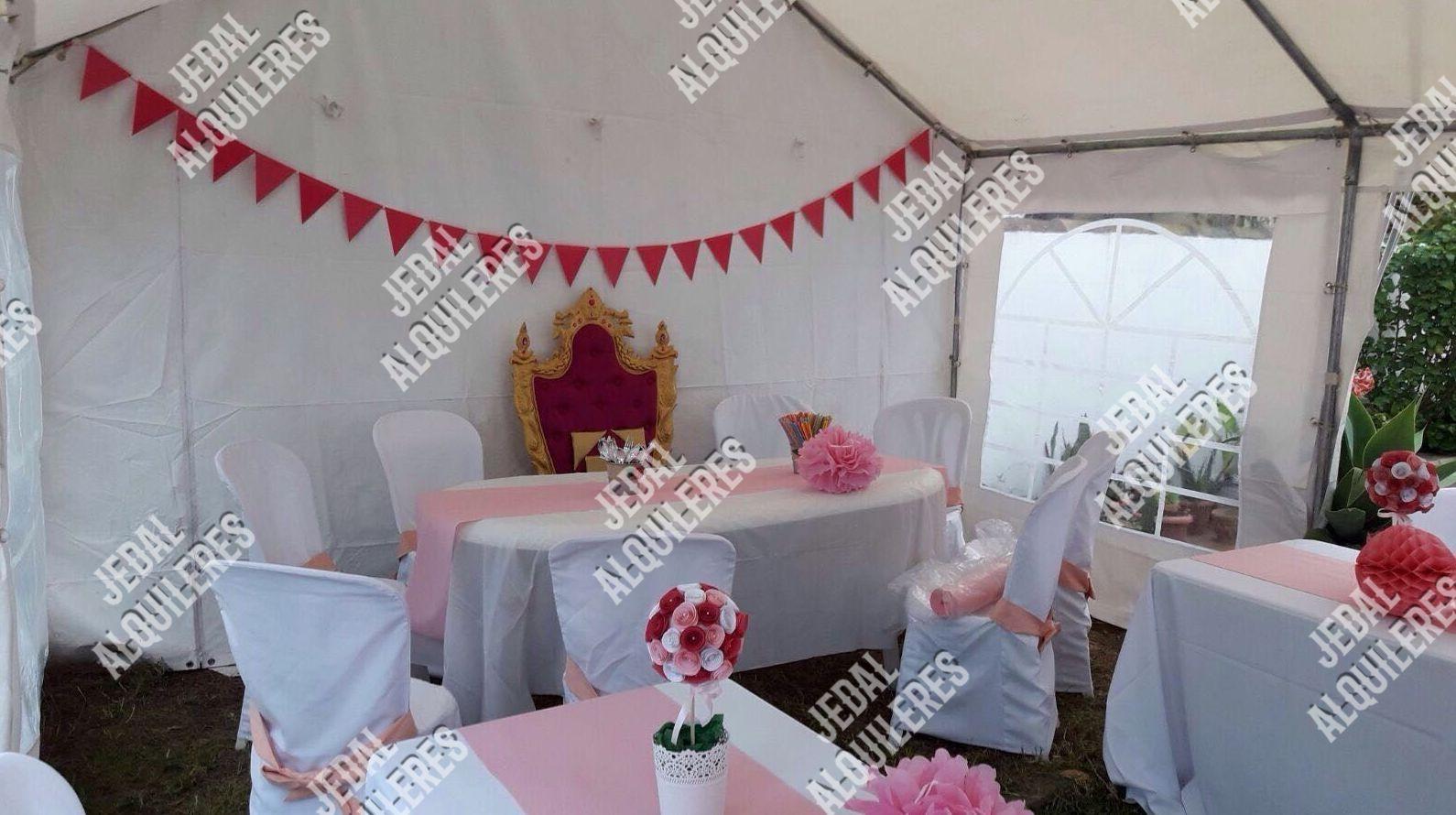 Alquiler de sillas y mesas para cumpleaños en Jerez de la Frontera