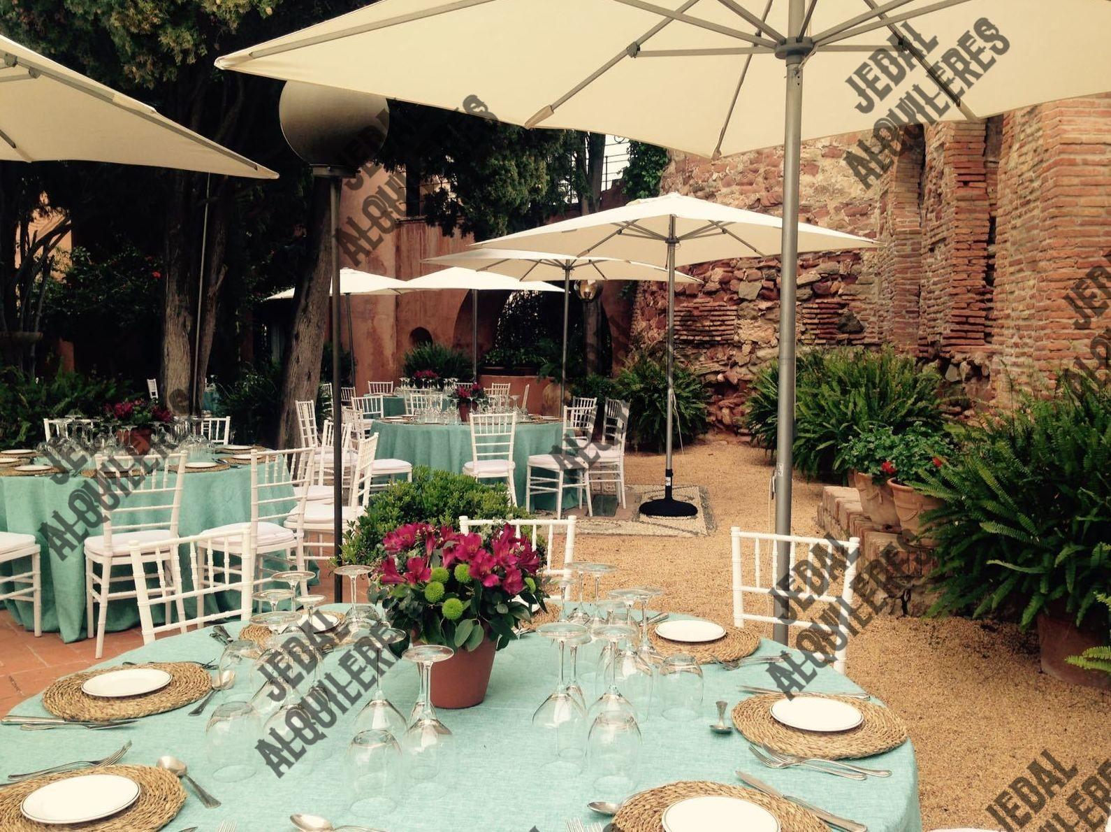 Alquileres de mobiliario para fiestas en Jerez de la Frontera
