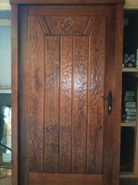 Pe 00106 puerta exterior catalogo de productos de carpinter a b p cu tara ib ez - Puertas exterior asturias ...