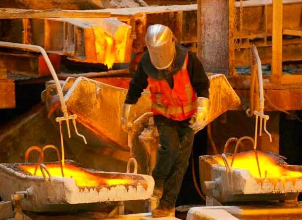 Producción de cobre