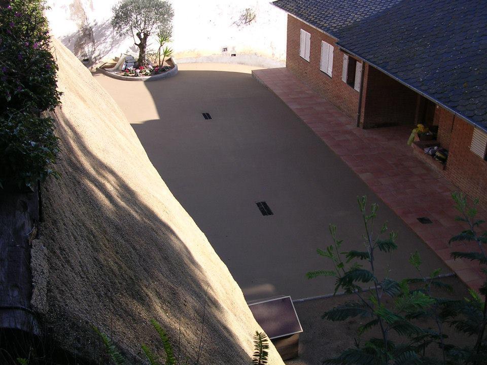 Pavimentación de patios