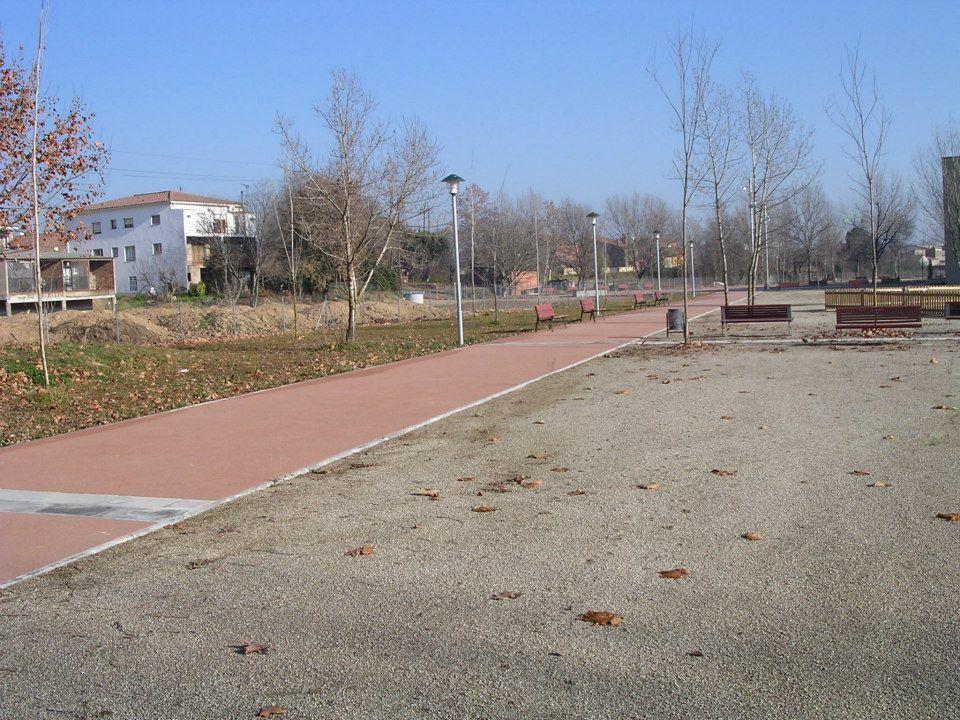 Pavimentación en parques
