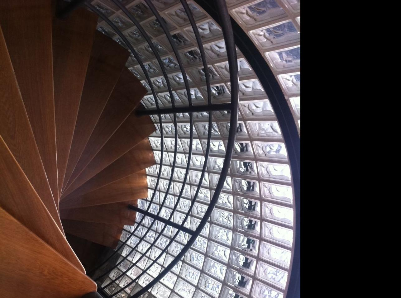 Escalera de parquet
