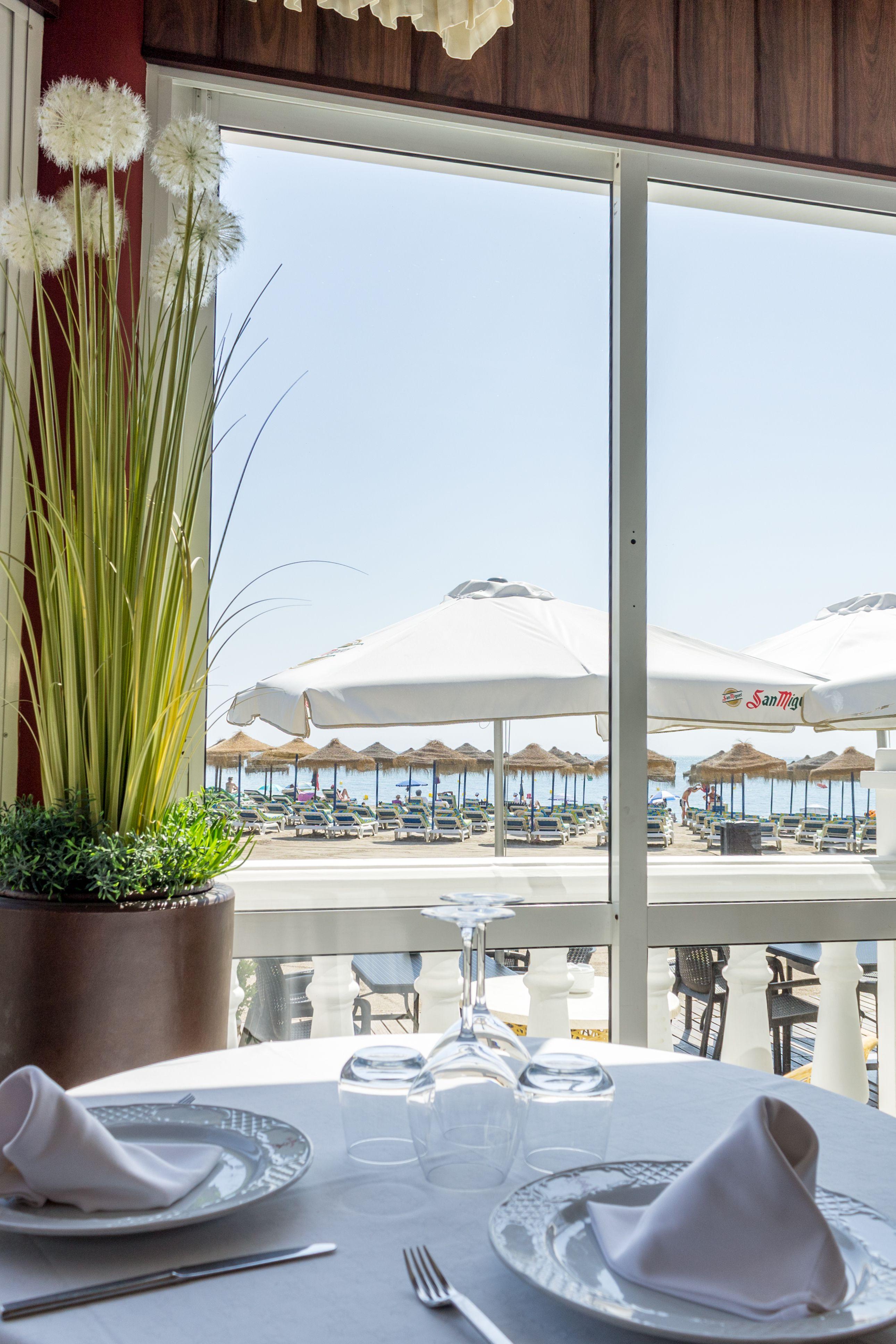Restaurante con vistas al mar en Benalmádena