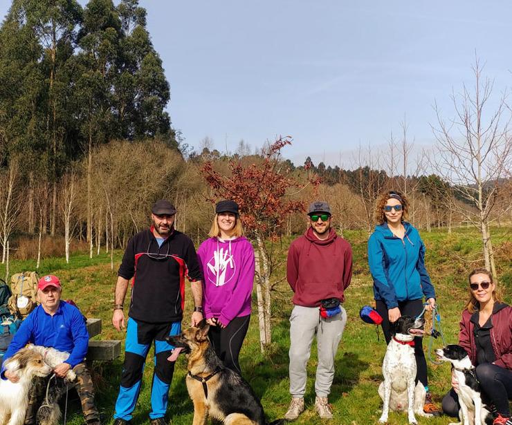 Organización de Camino de Santiago con perros