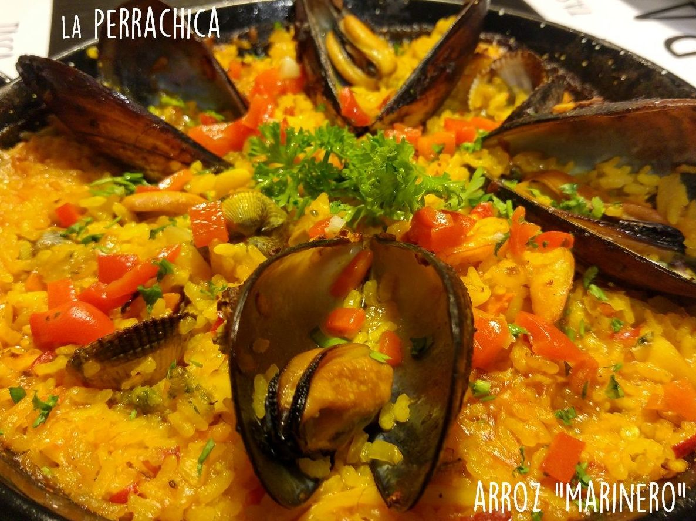 """Arroz """"Marinero"""" berberechos, langostinos, almejas, mejillones y vizcaína"""