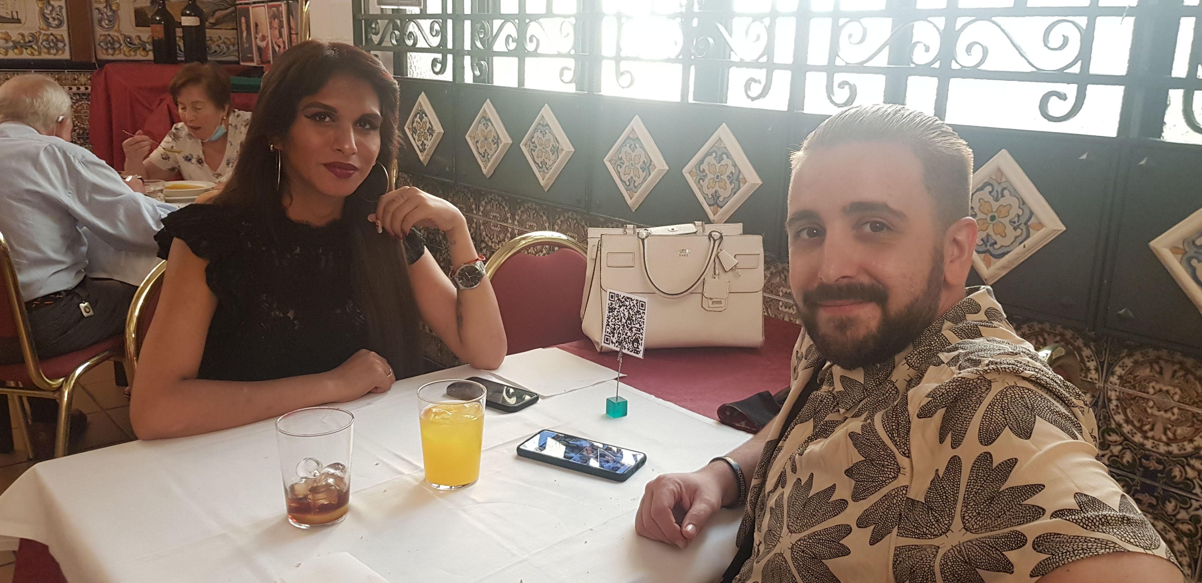 Tiana e Iván, gente guapa en nuestro restaurante