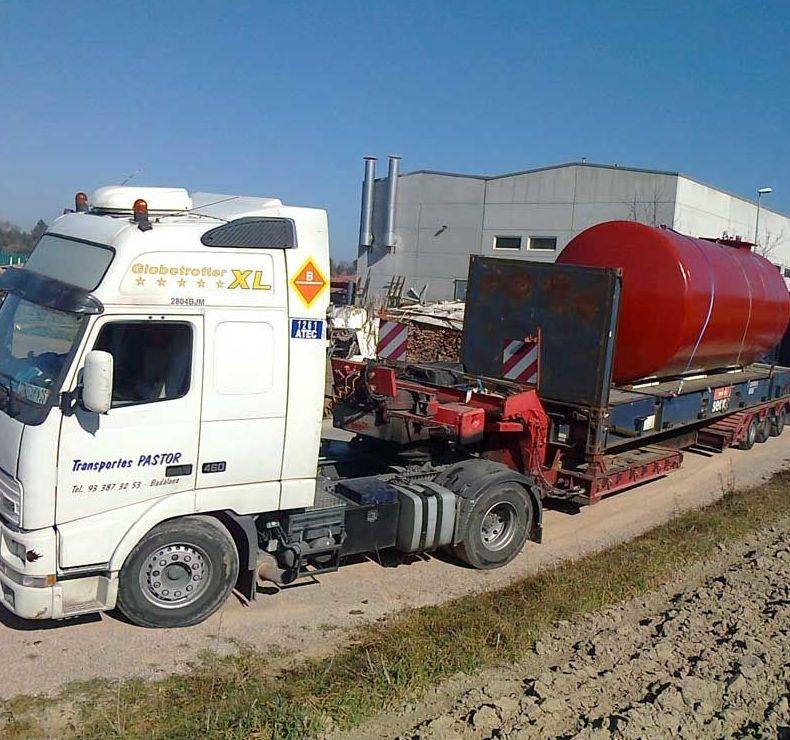 Transporte de mercancías pesadas