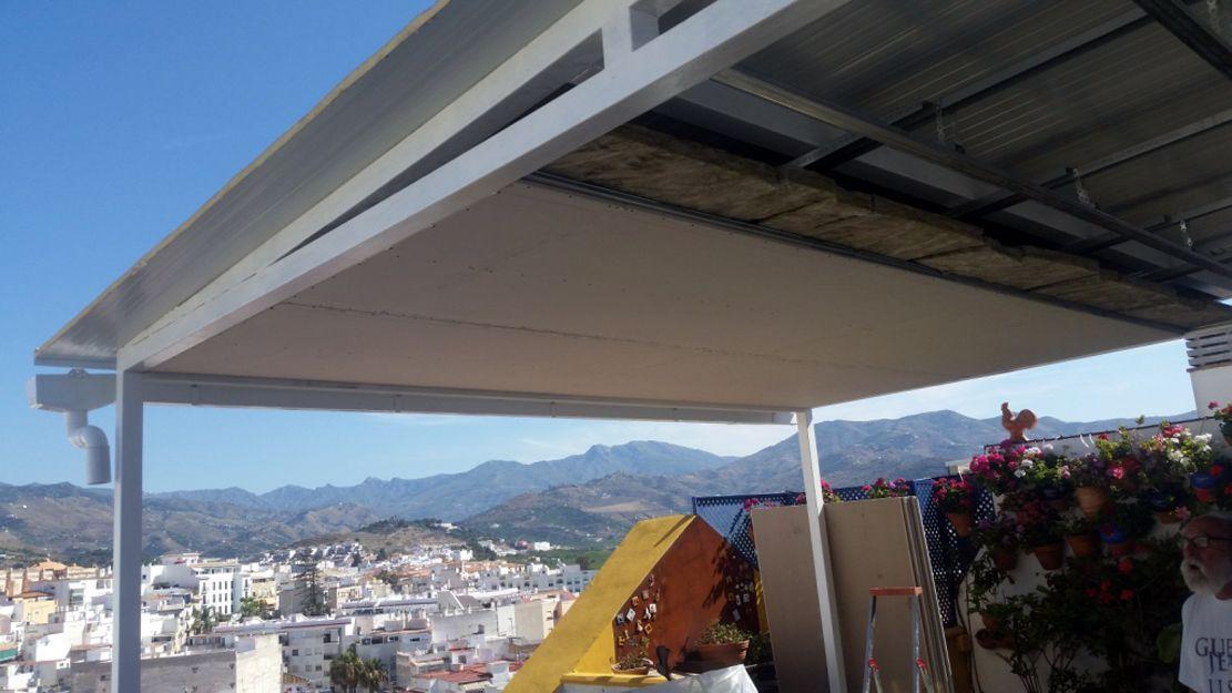 Construcción de una habitación en la terraza de un ático