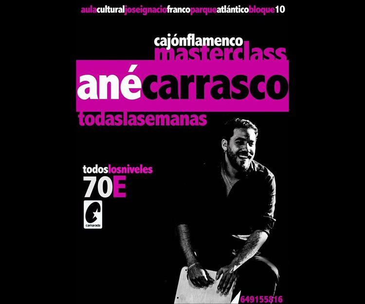 Masterclass de cajón flamenco por Ané Carrasco en Jerez de la Frontera