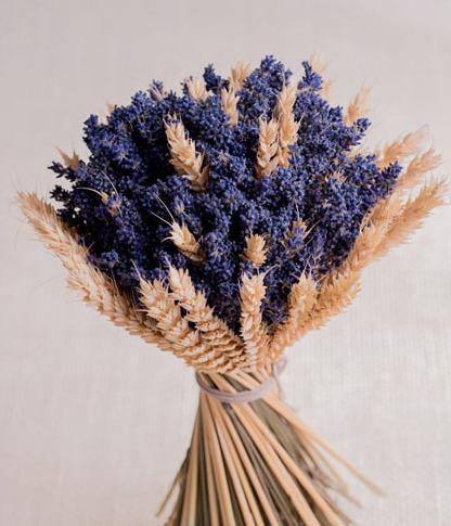Ramo de lavanda con trigo