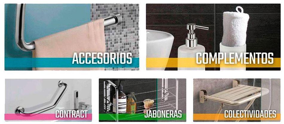 Compra on-line: accesorios, complementos, jaboneras, toallaeros, portarrollos, percha.