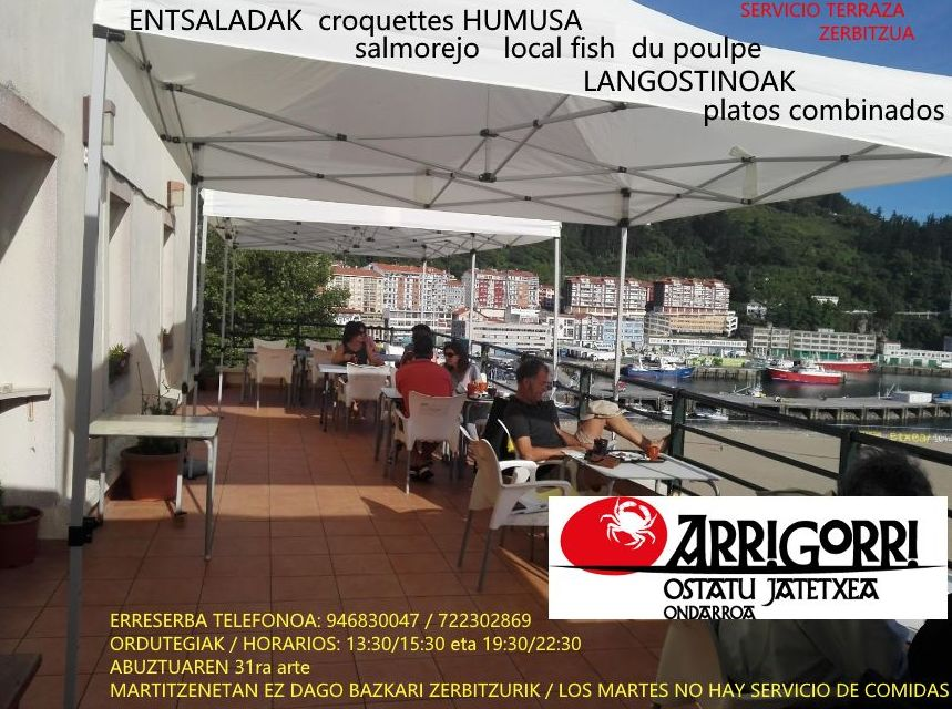 Terraza Restaurante Arrigorri verano 2018