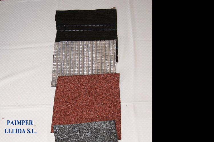 Diferentes materiales de impermeabilización