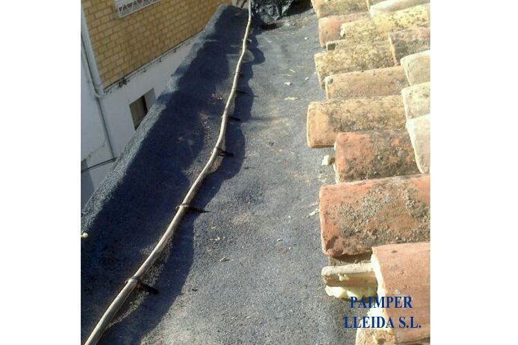 Impemeabilización de tejados en Lleida