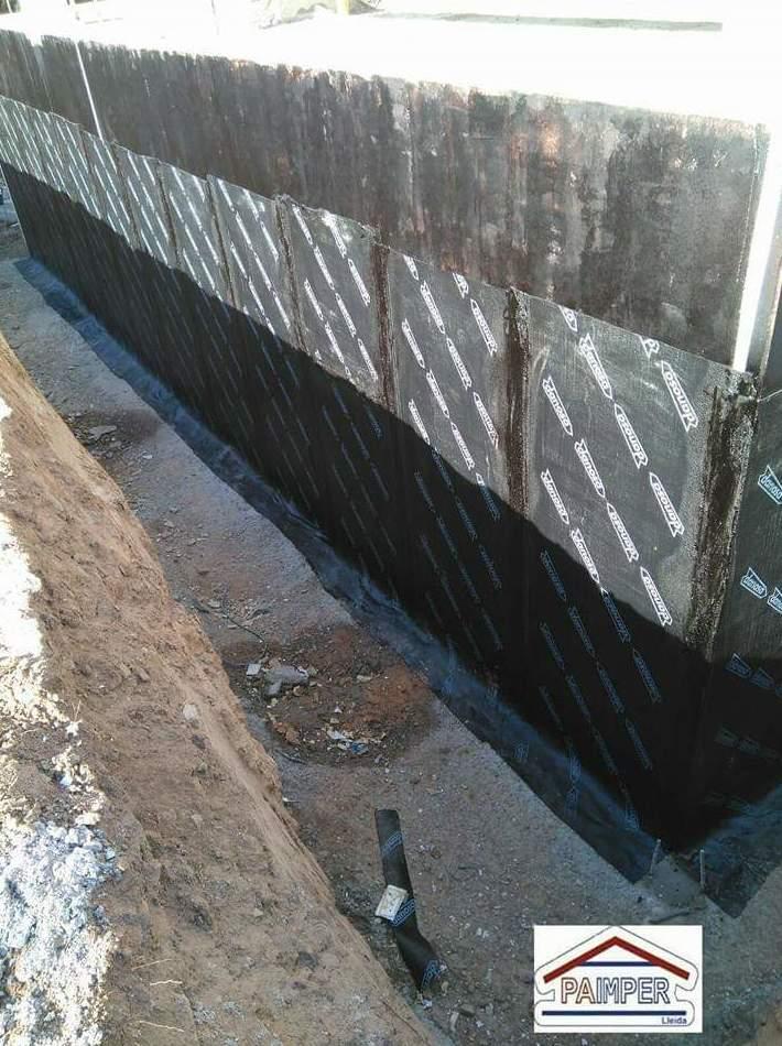 Impermeabilización de  muros: Catálogo de productos de Paimper Lleida, S.L.