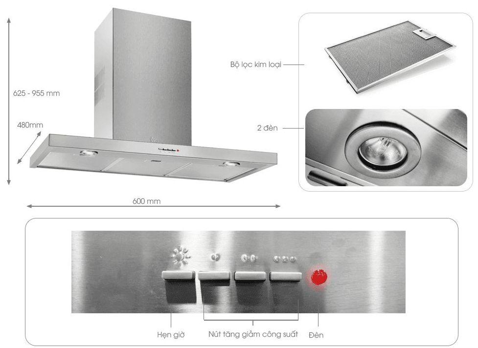 CAMPPANA DECO. TEKA DJ650 60/CM INOX ---129€: Productos y Ofertas de Don Electrodomésticos Tienda online