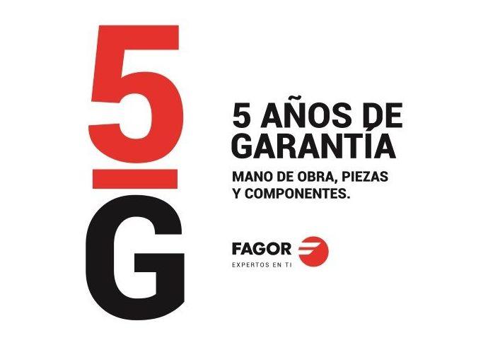 Extensión Garantía 5 años Fagor para el año 2017