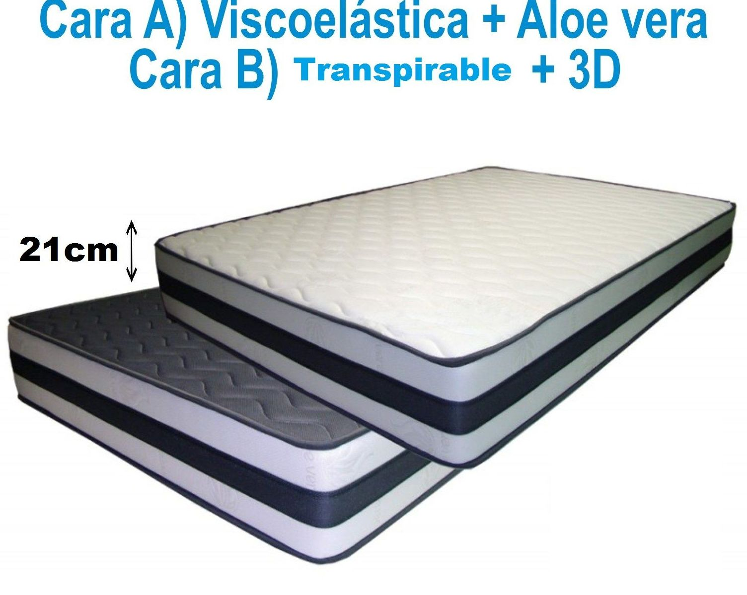 Colchón VISCOELÁSTICO+3D+TRANSPIRABLE 21cm ---DESDE 115€(75X190) : Productos y Ofertas de Don Electrodomésticos Tienda online