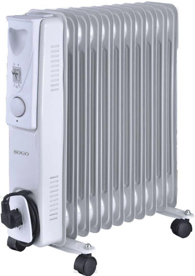 Radiador de aceite Sogo SS18211 Potencia 2500W, 3 ajustes de calor ---50€: Productos y Ofertas de Don Electrodomésticos Tienda online