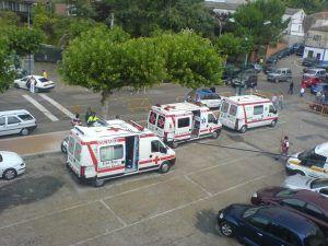 Traslado de enfermos y heridos Madrid