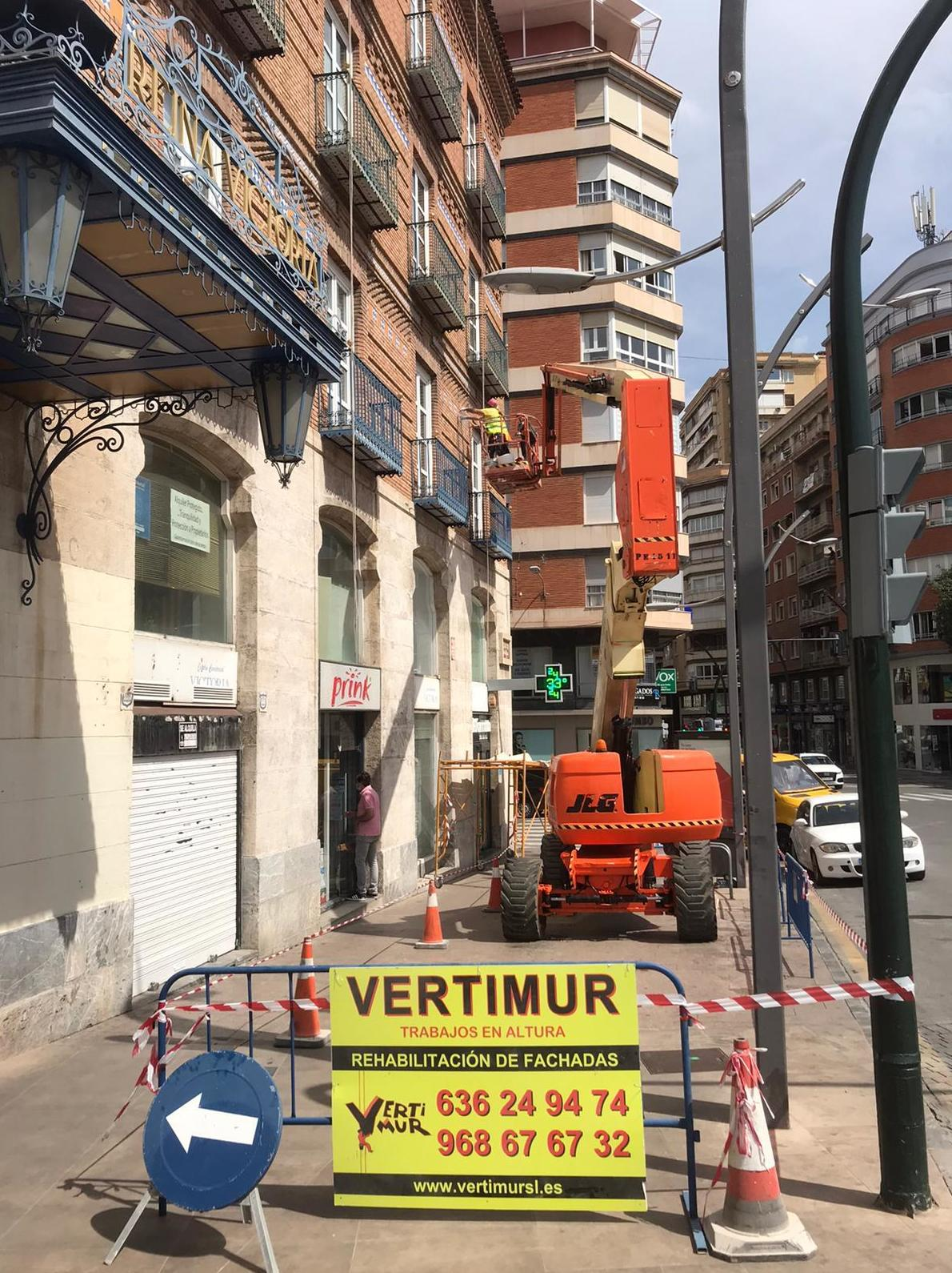 Vertimur trabajos de fachadas en Murcia